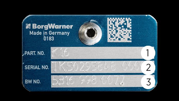 Original BorgWarner Nameplate