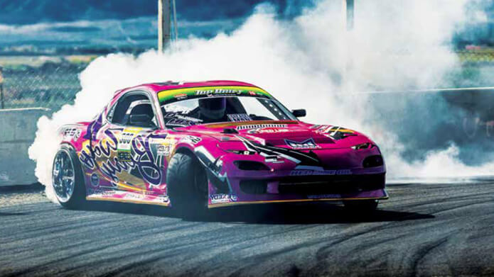 Drifting car from Aaron Parker Motorsports