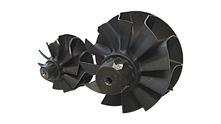 Low-weight Gamma-Ti Turbine Wheel