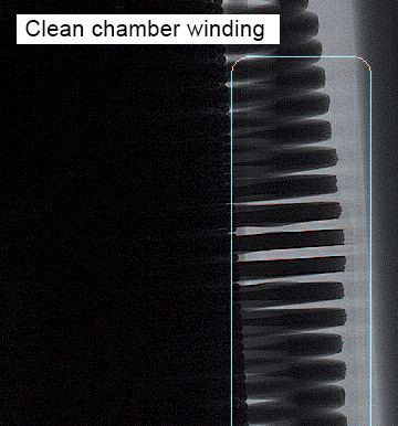 Clean chamber winding
