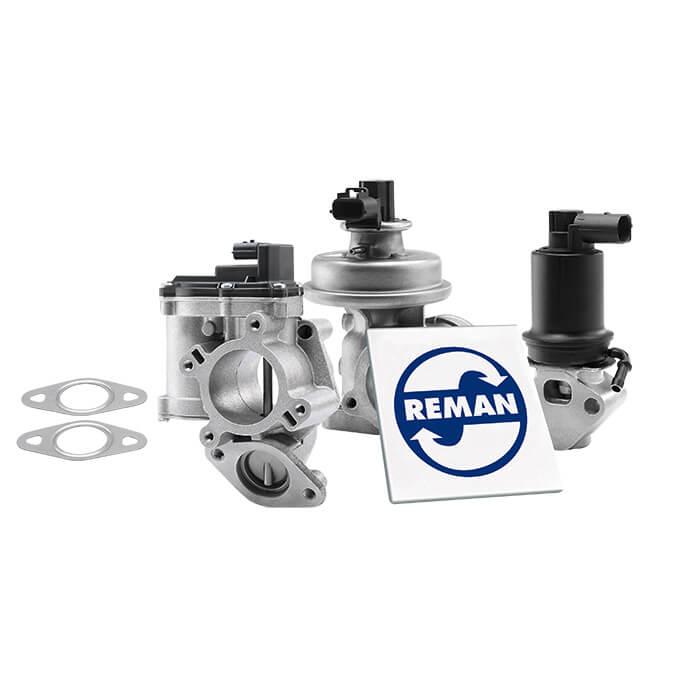 REMAN EGR valves with REMAN logo