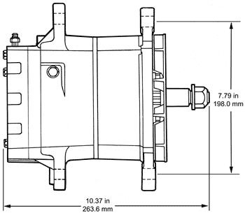34SI Quad Mount Dimensions