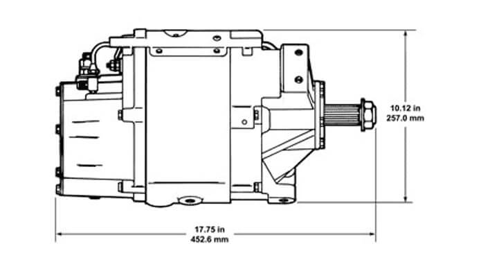 50DN Belt Drive Dimensions