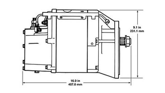 50DN Gear Drive Dimensions