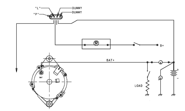 Diagrama de instalação do alternador 13SI