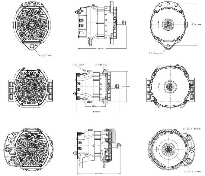 Dimensões 55SI