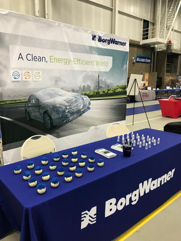 BorgWarner Booth at Career Fair