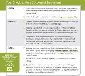 Checklist for Successful Enrollment