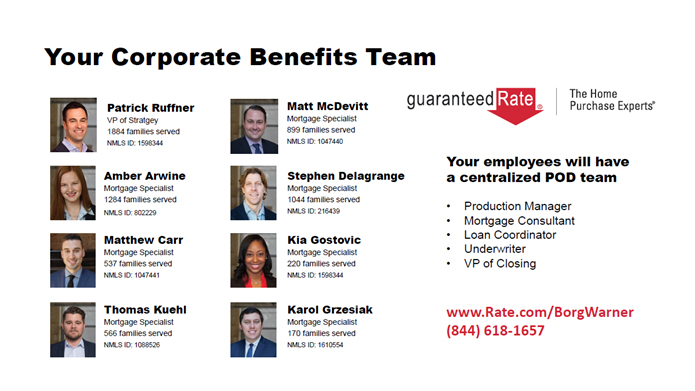 Your Corporate Benefits Team