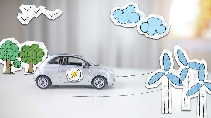 How is power generated while driving?