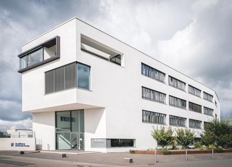 DCC Gebäude in Ketsch - Vorderansicht / Haupteingang