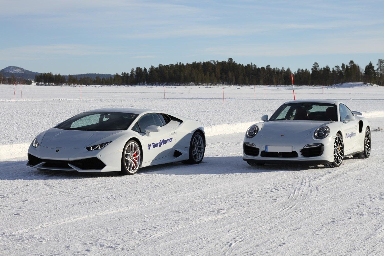 Porsche and Lamborghini