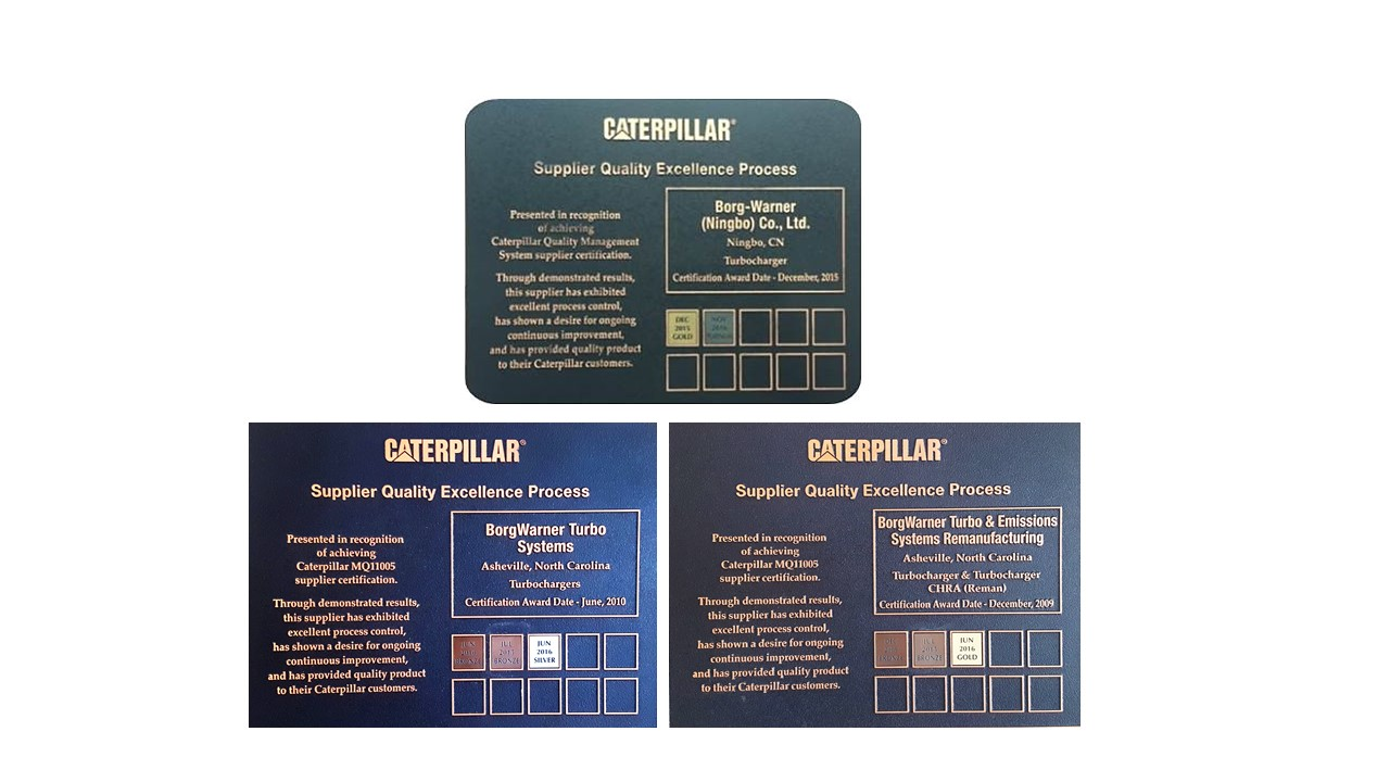 3 Caterpillar Awards