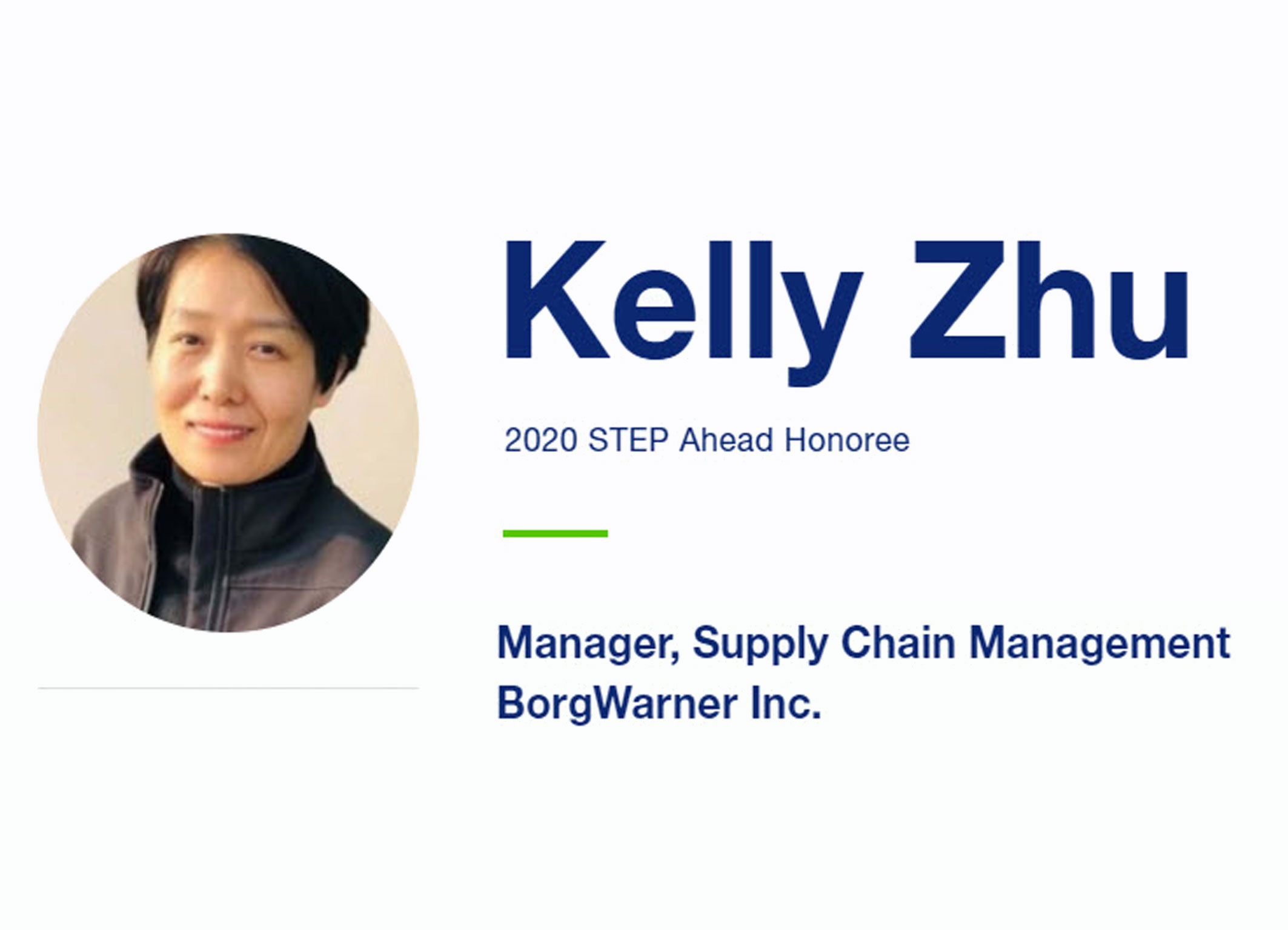 STEP Ahead Award Kelly Zhu