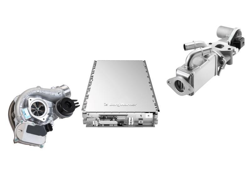 VTG turbocharger for gasoline engines, battery module, EGR module