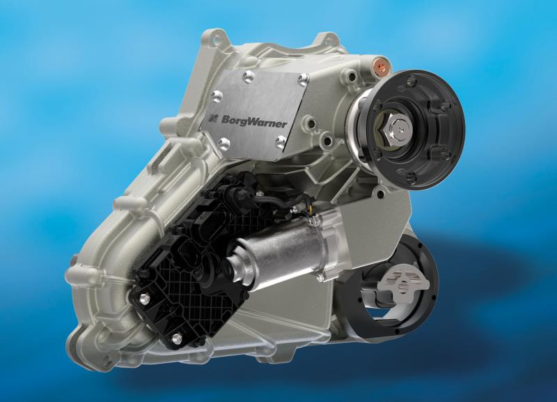 BorgWarner's compact and lightweight on-demand transfer case provides enhanced response and torque accuracy for numerous Jaguar Land Rover vehicles.