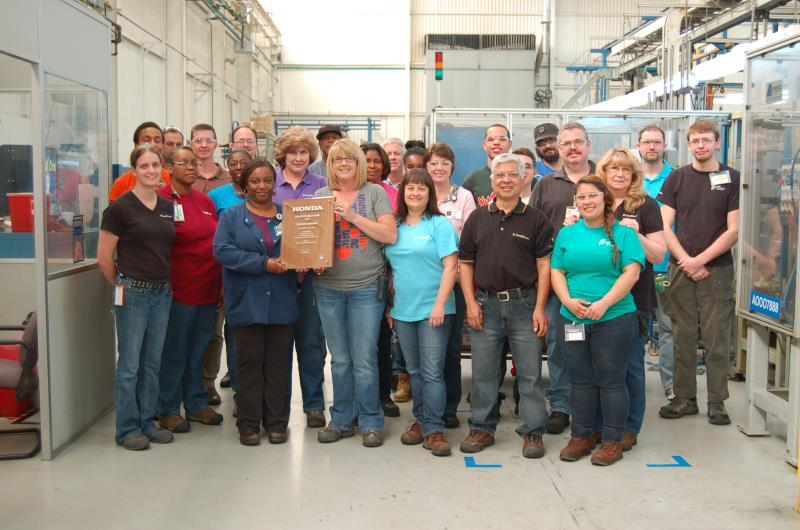 BorgWarner receives 2014 Excellence in Quality Award from Honda North America