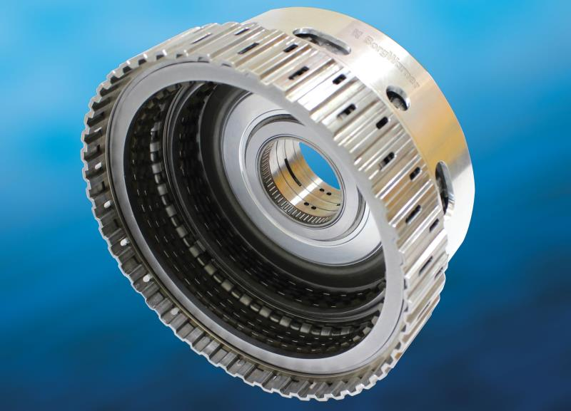 BorgWarner's new light-weight clutch module optimizes efficiency and reduces drag to help Hyundai's 8-speed automatic front-wheel drive transmission improve shift feel and fuel economy.