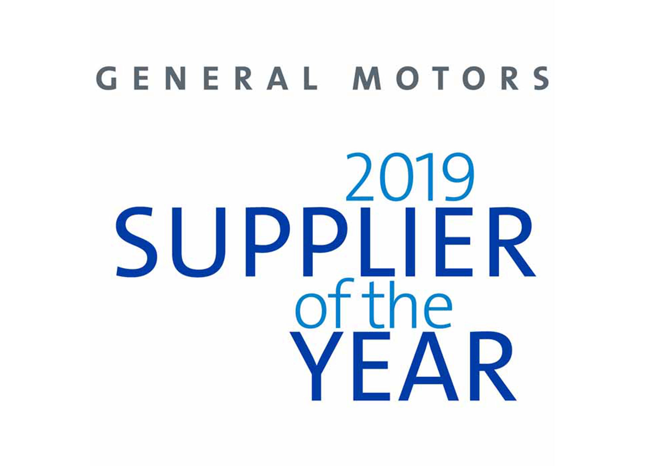 GM 2019 Supplier of the Year Winner