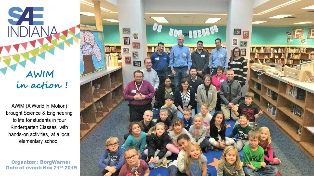 SAE STEM Activity with Kindergarten 2019