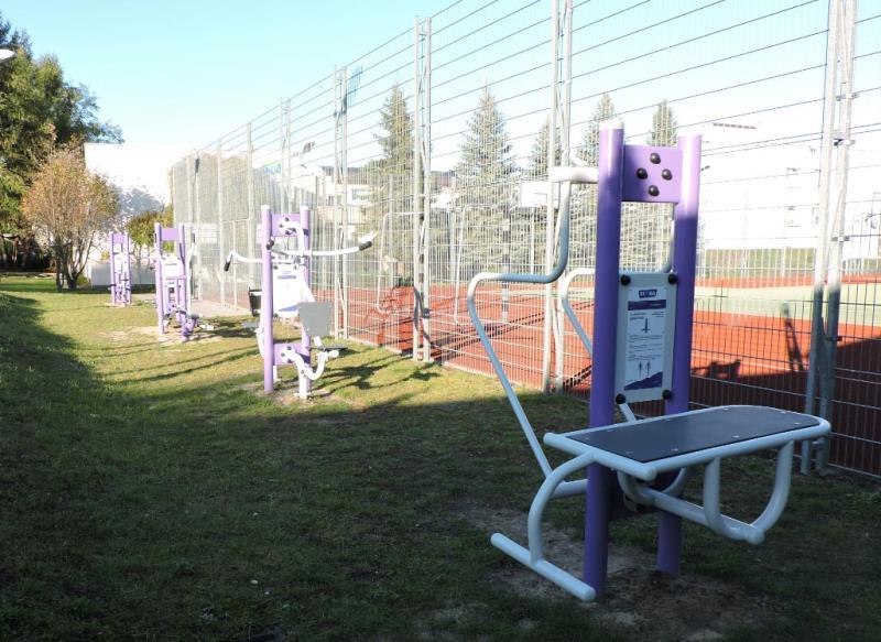 siłownia plenerowa w SOS Wiosce Dziecięcej w Biłogoraju