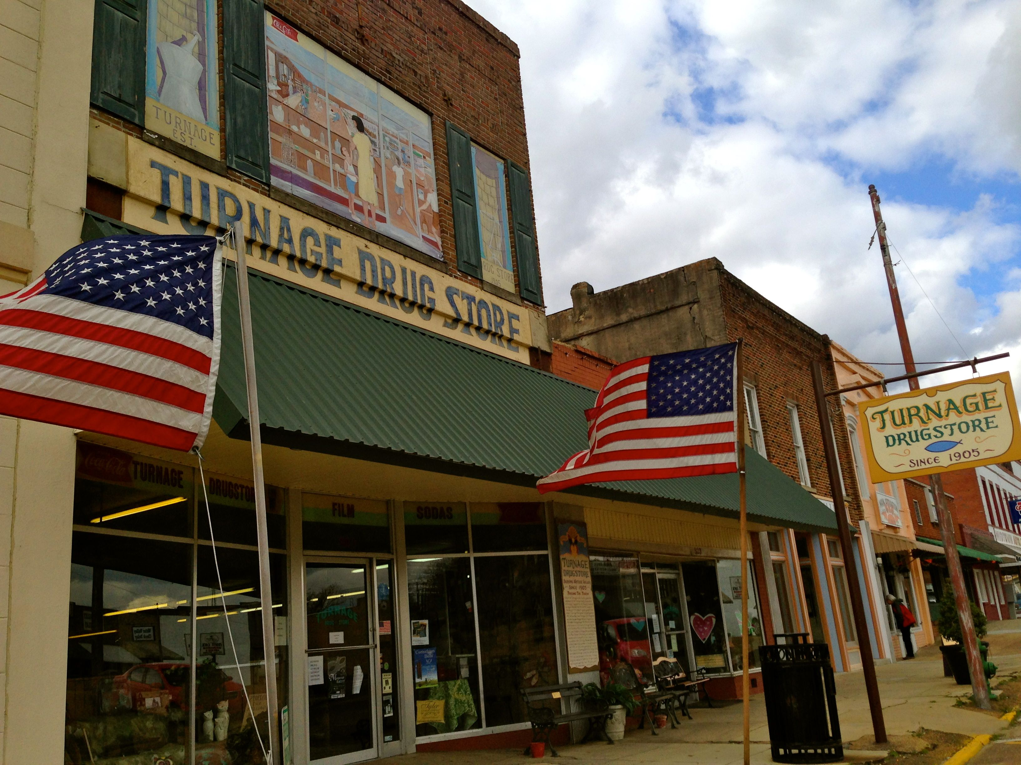 Turnage Drug Store in Water Valley
