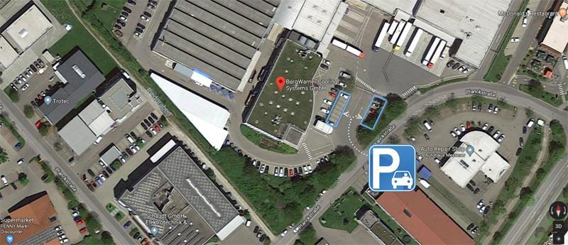 BorgWarner Markdorf Map Parking